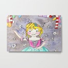 The Nutcracker Ballerina Metal Print