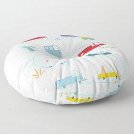 Cute Cars Print Floor Pillow