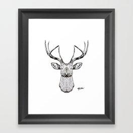 """""""The Deer Mania"""" Framed Art Print"""
