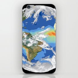 Satellite Image of Earth's Interrelated Systems and Climate iPhone Skin