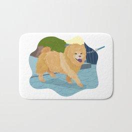 Chow Chow Dog Art Illustration Bath Mat