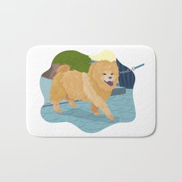 Chow Chow Dog Art Illustration Bath Mat