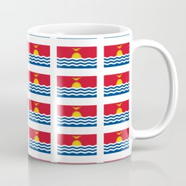 flag of kiribati - Gilbertese,I-Kiribati,Gilberts,Kingsmills,pacific,Tarawa Coffee Mug