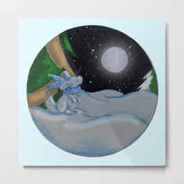 The Festive Moon Metal Print