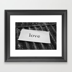 Iron-clad love Framed Art Print