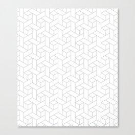 Geometric gray pattern Canvas Print