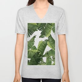 Banana Green Unisex V-Neck