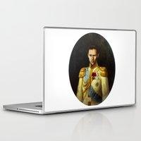 tom hiddleston Laptop & iPad Skins featuring Tom Hiddleston 001 by TheTreasure