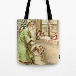 Santa Claus at the Window Tote Bag
