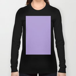 Light Chalky Pastel Purple Solid Color Long Sleeve T-shirt