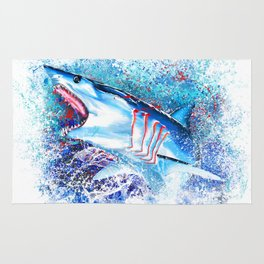 Mako Shark Breaching Rug