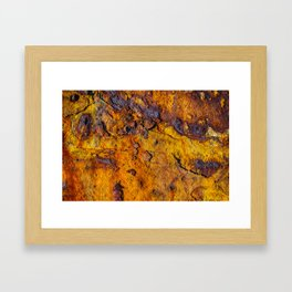 Rusted metal surface Framed Art Print