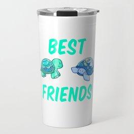 Best Friends turtles sea animal gift idea Travel Mug