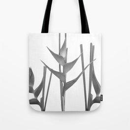 Three Heliconia black white Design Tote Bag