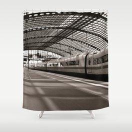 Train-Station of Berlin Shower Curtain