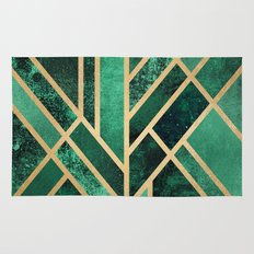 Art Deco Emerald Rug