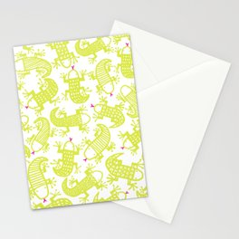 Lizards love highlighters Stationery Cards