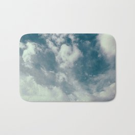 Soft Dreamy Cloudy Sky Bath Mat