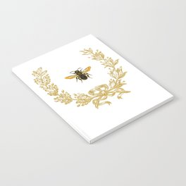 French Bee acorn wreath Notebook