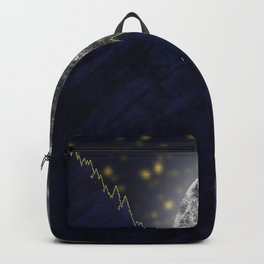 Moonlight on the enchanted forest Backpack