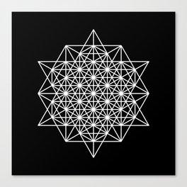 White star tetrahedron Canvas Print