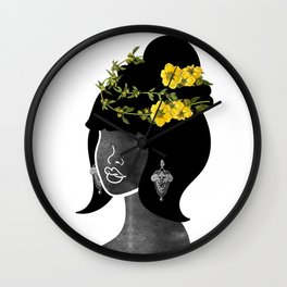 Wildflower Crown IV Wall Clock