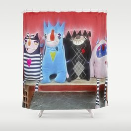 Friends are family too Shower Curtain
