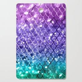 Mermaid Scales on Unicorn Girls Glitter #19 #shiny #decor #art #society6 Cutting Board