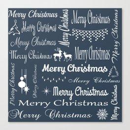 Merry Christmas typography Canvas Print