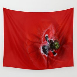 Flowers: Red Blossomed Tulip Wall Tapestry