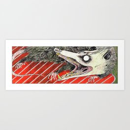 Possum on a Grill Art Print
