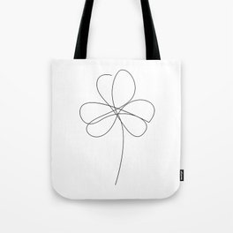 piece of luck - one line art Tote Bag