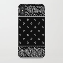 Classic Black Bandana iPhone Case