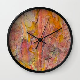 Scrunched Colors Wall Clock