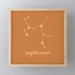Sagittarius - Zodiac Constellation Framed Mini Art Print