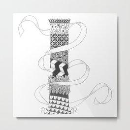 "Zenletter ""I"" Metal Print"