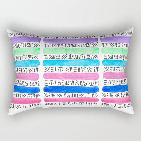Tribal Bands Rectangular Pillow