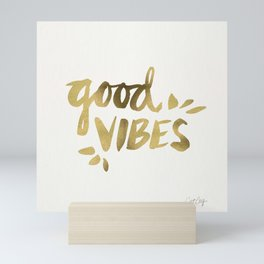Good Vibes – Gold Ink Mini Art Print