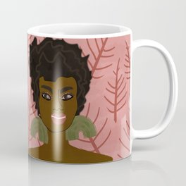 AsHaley on pink with winter leaves Coffee Mug