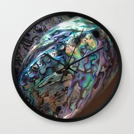 2 .paua shell Wall Clock