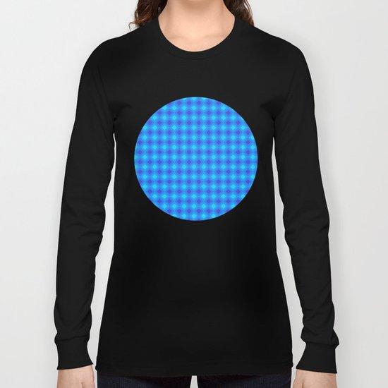 Dark Blue Cubes - Geometric Work Long Sleeve T-shirt