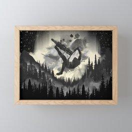 MTB Aqua Framed Mini Art Print