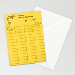 Library Card 797 Yellow Stationery Cards