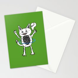 Monster Hula Hoop Stationery Cards