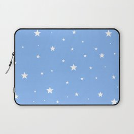Scattered Stars on Sky Blue Laptop Sleeve