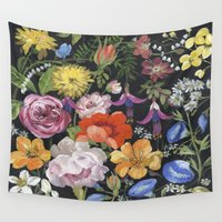 baroque Wall Tapestries featuring Baroque Garden by Edith Jackson-Designs
