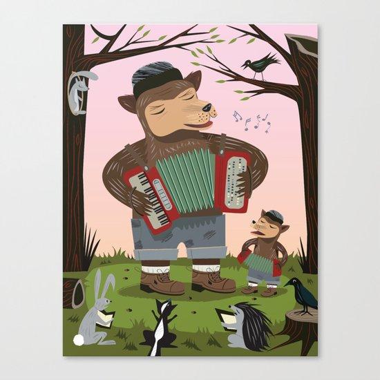 The Accordion Bears Canvas Print