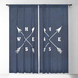 Compass arrows Blackout Curtain