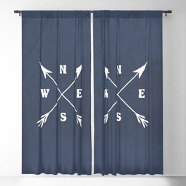 Compass arrows Blackout Curtain