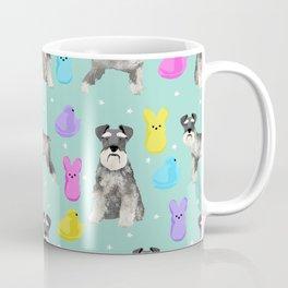 Schnauzer dog breed peeps marshmallow easter spring dog pattern gifts schnauzers Coffee Mug